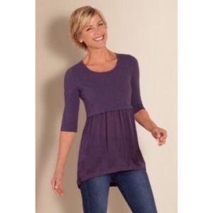 Soft Surroundings   Purple Skirt Tunic Top
